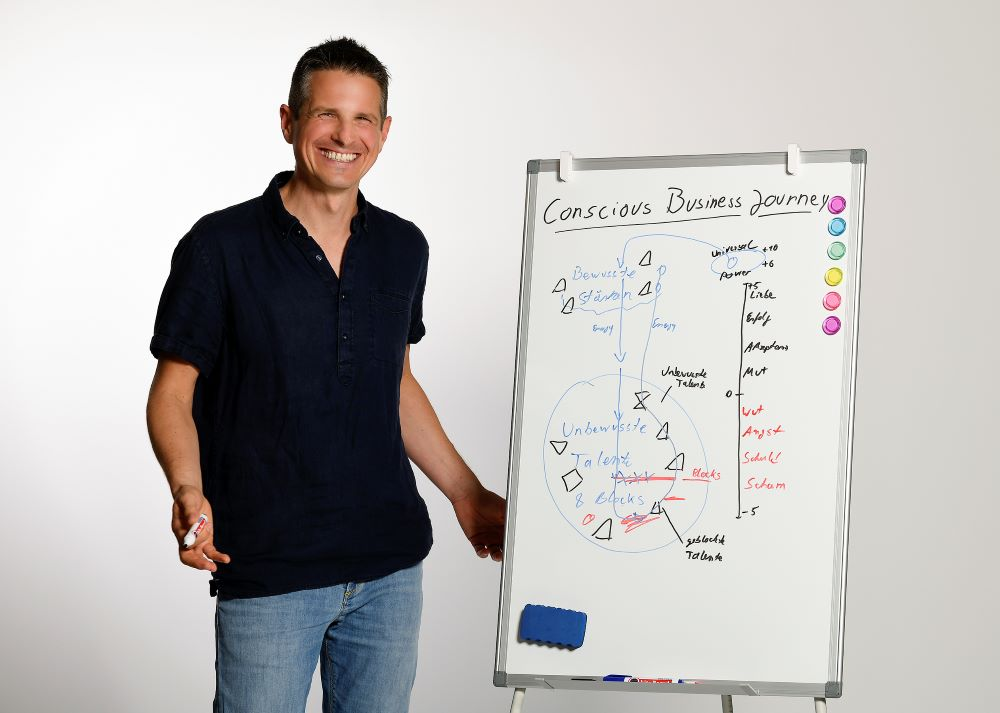 Boris Schickedanz am Whiteboard